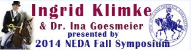 NEDA Fall Symposium Ingrid Klimke and Dr. Ina Goesmeier