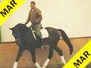 Johann Rockx<br> Riding and Lecturing<br>Verdi de la Fazenda<br> KWPN<br> 4 yrs. old Gelding<br>Training: Training Level<br> Duration: 18 minutes