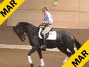 Hubertus Graf Zedtwitz<br>Riding and Lecturing<br> Dosvidania<br> Hanoverian<br> 4 yrs. old Mare<br> Training: Training Level<br> Duration: 39 minutes