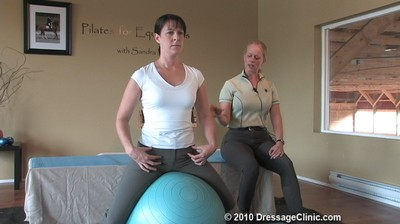 Part 3<br> Stability Ball Excercisers<br> for Riders<br>Equestrian Pilates<br> with Sandra Verda<br> Duration: 30 minutes
