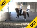 Ellen Bontje<br> Assisting<br> Rochelle Kilberg<br> Rudy<br> Hanoverian<br> 8 yrs. old  Stallion<br> Training: PSG/I-1 Level<br> Owner: Rochelle Kilberg<br> Duration: 36 minutes