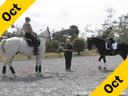 Jane Hannigan<br>Riding and Lecturing<br>Maksymilliam<br>Owner: Jane Hannigan<br>13 yrs. old Hanoverian<br>Grand Prix<br>Duration: 32 minutes