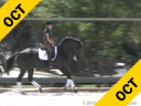 Shannon Dueck<br> Assisting<br> Irene Greenberg<br> Tony<br> Hanoverian<br> 5 yrs. old Gelding<br> Training: FEI- Schooling Master<br> Owner: Irene Greenberg<br> Duration: 36 minutes