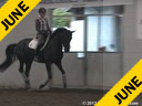 Anne Gribbons<br> Assisting<br> Tamara Brown<br> Riding<br> Sweedish Warmblood<br> 9 yrs. old<br> Training: GP<br> Duration: 35 minutes