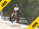 Pam Goodrich<br> Riding & Lecturing<br> Talent<br> KWPN<br> by: Jazz<br> 10 yrs. old Gelding<br> Training: Intermediaire I<br> Owner: Joan Pecora<br> Duration: 34 minutes