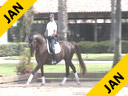 Jeremy Steinberg<br> Riding & Lecturing<br> Elisienne<br>8 yrs. old Mare  Owner: Jessica Lyman)<br> Oldenburg<br> Training Prix St. George<br> Duration: 49 minutes
