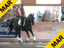 Christoph Hess<br> Assisting<br> Lisa Pierson<br> Rubes De Mesille<br> Hanoverian<br> 10 yrs. old Gelding<br> by: Rubenstein<br> Training: PSG/ 4th Level<br>          Duration: 60 minutes