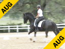 Bo Jena<br>Long Lining Session<br>Ho Heit<br>Hanoverian<br>by: His Highness<br>7 yrs. old Mare<br>Owner: Kari Garb<br>Duration: 25 minutes