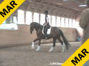 Christoph Hess<br> Assisting<br> Danielle Gavrilok<br> High Life K<br> Hanoverian<br> 5 yrs old Gelding<br> Training: FEI test<br> Duration: 56 minutes