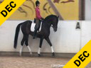 Ulla Salzgeber<br> Assisting<br> Rafiella Baungartner<br> Monte Piano<br> Bavarian<br> by: Monte Verdi<br> 8 yrs. old Stallion<br> Training: 2nd Level<br> Duration: 25 minutes
