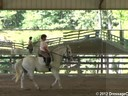 Day 1<br> Felicitas von Neumann<br> Assisting<br>  Julie Cochron<br> Riding<br> Necia<br> 7 yrs. old Hanoverian<br> Training: 3rd Level<br> Duration: 39 minutes