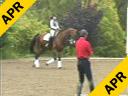Jan Ebeling<br> Assisting<br> Amy Ebeling<br> Ricardo<br> Westfalian<br> 12yrs. old Gelding<br> Training: GP Level<br> Duration: 40 minutes
