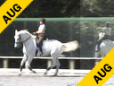 Anne Gribbons<br> Assisting<br> Louisa Marcelle Eadie<br> Weltcup<br> Hanoverian<br> 11 yrs. old Gelding<br> Training: GP Level<br> Owner: Louisa- Marcelle Eadie<br> Duration: 49 minutes