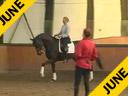 Penny Rockx<br>Assisting<br>Karin Nyvelt<br>Mabruk<br>KWPN<br>11 yrs. old Gelding<br>Training: Grand Prix<br>Duration: 54 minutes