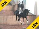 Wolfram Wittig<br> Assisting<br> Brigitte Wittig<br> Baron de Ley<br> by: Breitlinag W<br> 6 yrs. old Stallion<br> Training: 3rd Level<br> Owner: Mr. & Mrs. Walker<br> Duration: 25 minutes