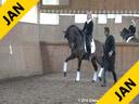 Daniel Ramseier<br> Assisting<br> Hayley Beresford<br> Relampago Do Retiro<br> Lusitano<br> 13 yrs. old Stallion<br> Training: GP Level<br> Owner: Eduardo Fischer<br> Duration: 28 minutes